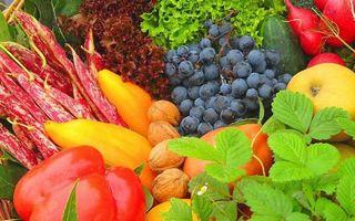 Заставки витамины, зелень, фрукты