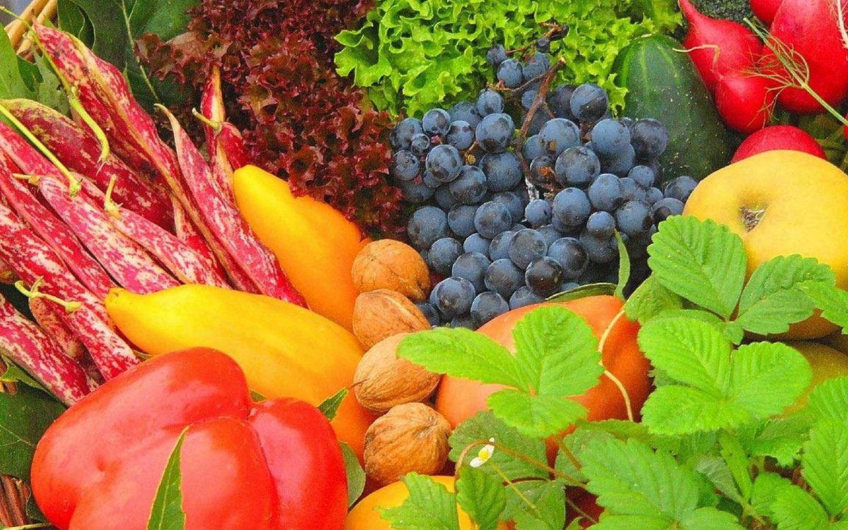 Фото бесплатно витамины, зелень, фрукты - на рабочий стол