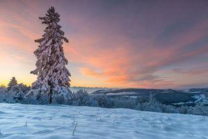 Заставки пейзаж, Швейцария, снег