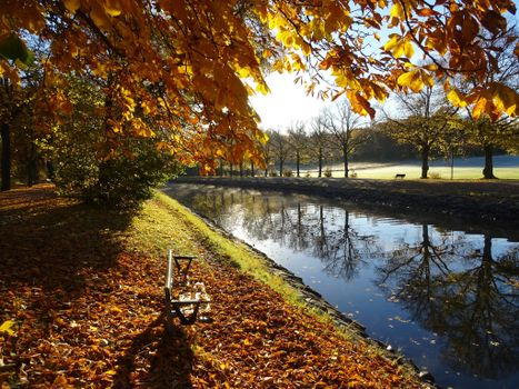 Photo free autumn, park, canal