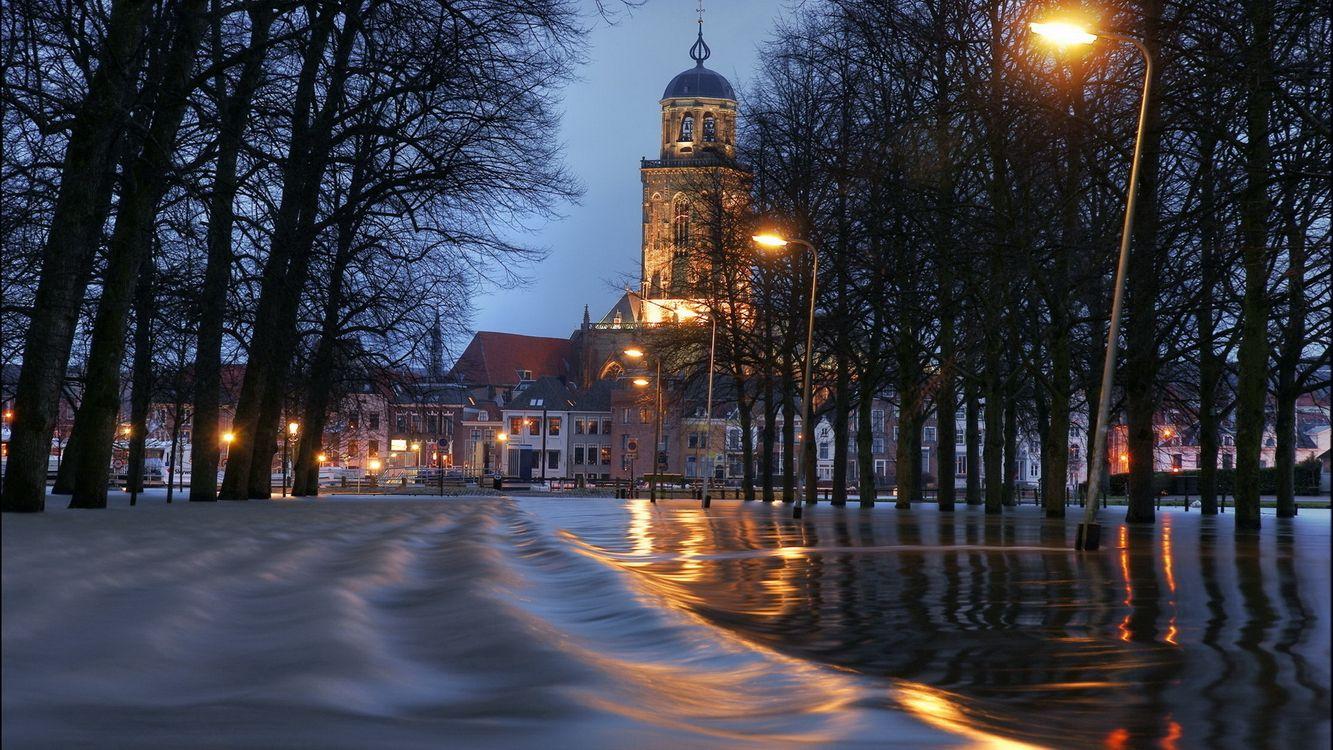 Фото бесплатно вечер, город, наводнение - на рабочий стол