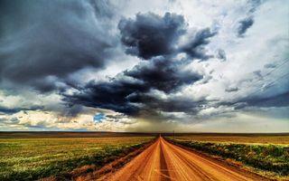 Бесплатные фото дорога,поля,столбы,провода,горизонт,небо,облака