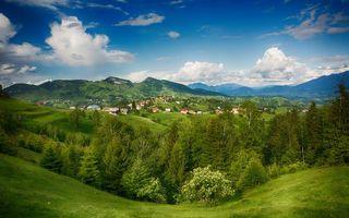 Фото бесплатно холмы, трава, зелень