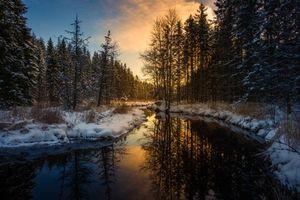 Бесплатные фото Sweden,Mangskog,Arvika,зима,мороз,закат,река