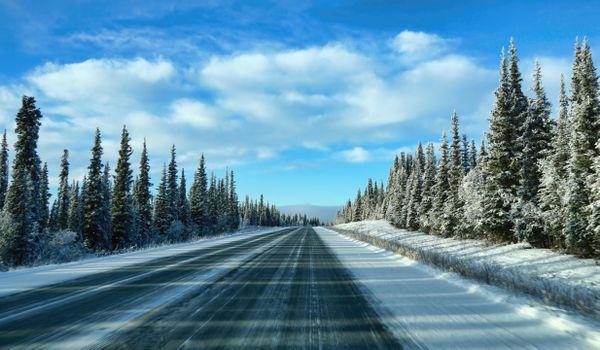 Photo free Alaska, winter, road