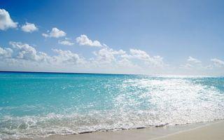 Заставки берег,песок,море,горизонт,небо,облака