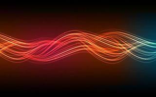 Бесплатные фото линии,полосы,волны,свечение,фон темный