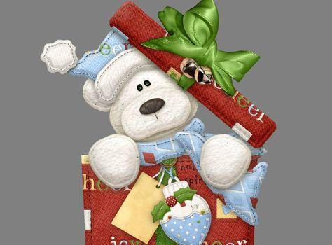 Фото бесплатно новый год, мишка, подарок