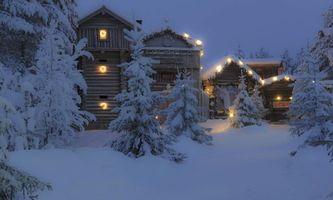 Бесплатные фото дом в лесу,зима,сугробы,снег,елки