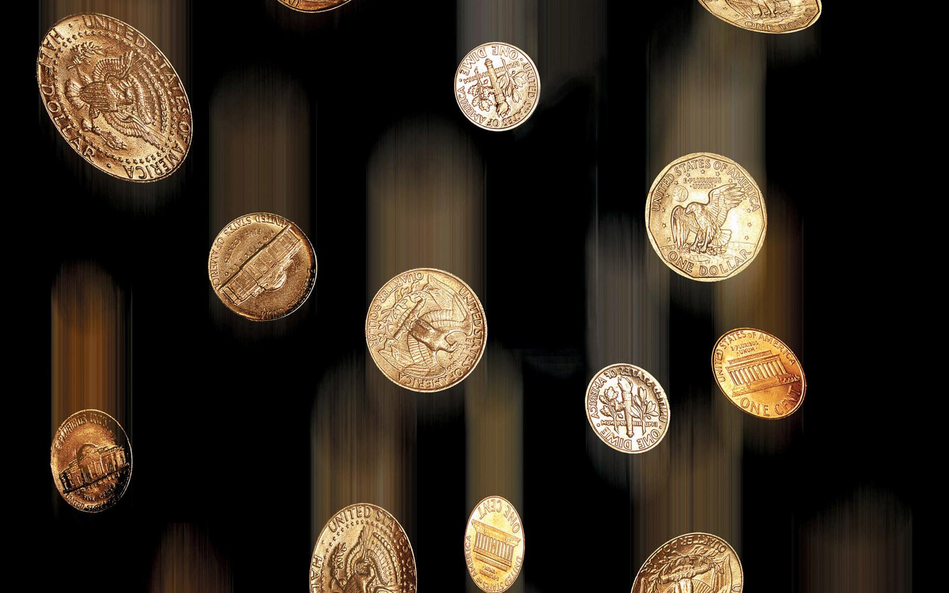 обои монеты, копейки, чеканка, полет картинки фото