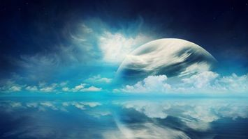 Фото бесплатно облака, планета, неизвестные миры