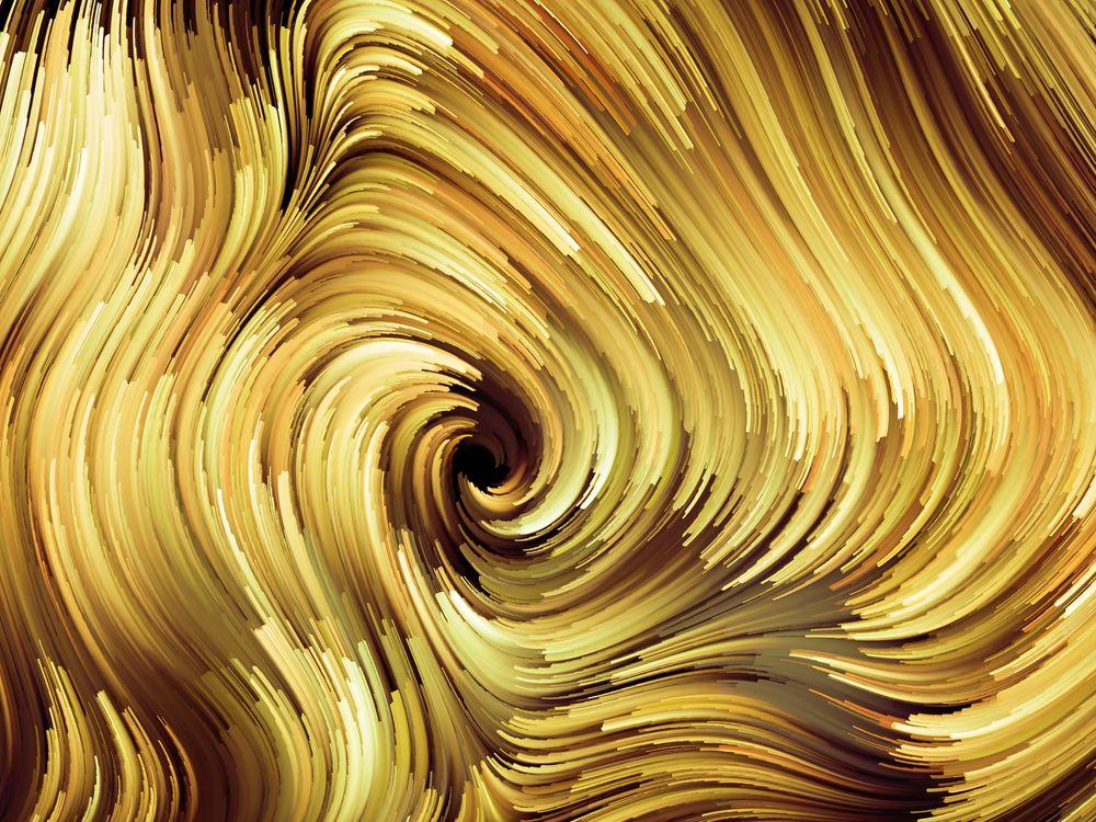 Золотистый фон красками · бесплатное фото