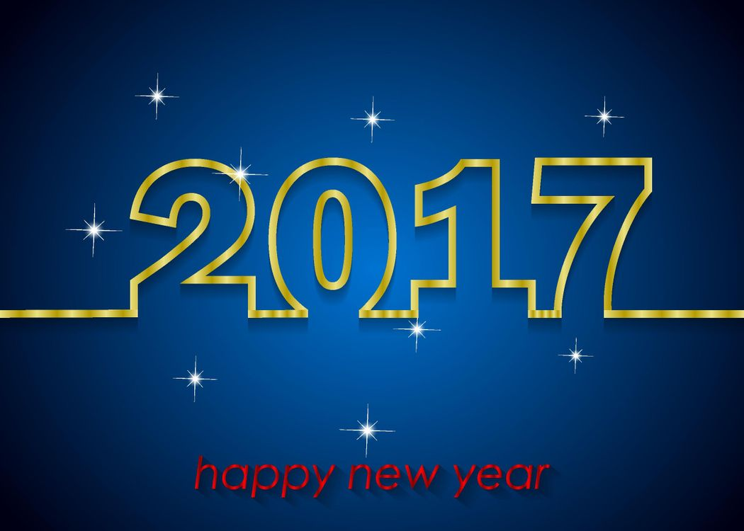 Free photo 2017, with new 2017 year, date - to desktop