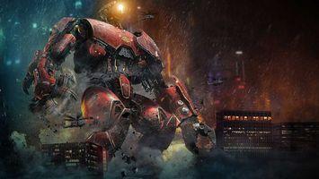 Фото бесплатно тихоокеанский рубеж, монстры, робот