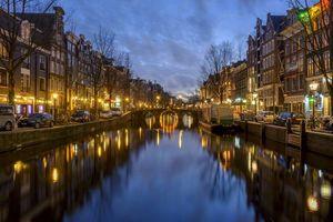 Обои Amsterdam, Амстердам, столица и крупнейший город Нидерландов, Нидерланды, Расположен в провинции Северная Голландия, Голландия, панорама