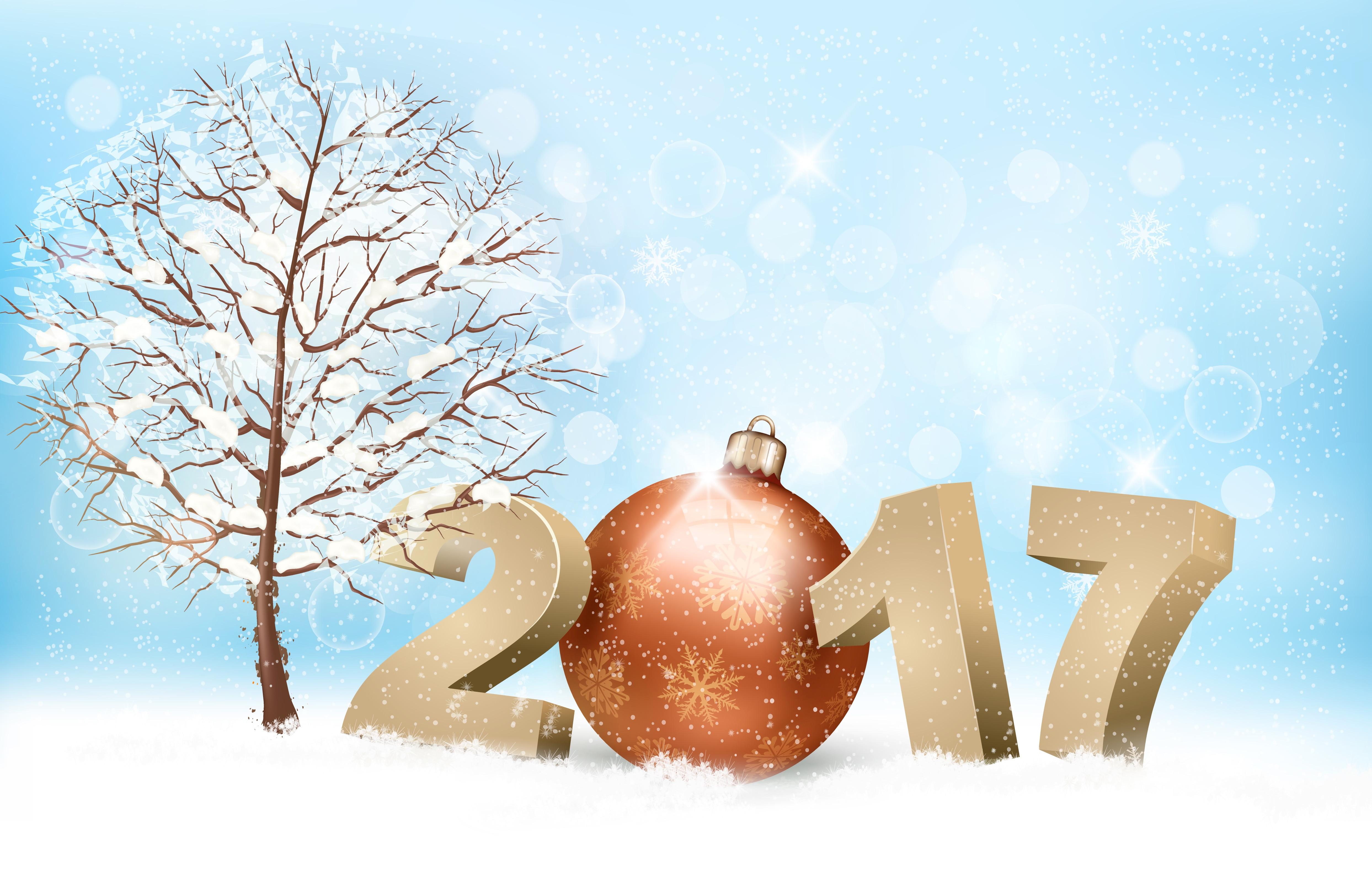 обои с новым 2017 годом, 2017, с новым годом, новогодние обои на 2017 год картинки фото