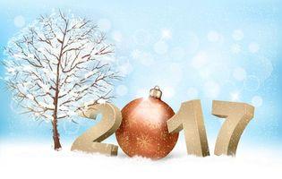 Фото бесплатно с новым 2017 годом, новогодние обои на 2017 год, с новым годом