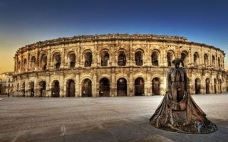 Фото бесплатно Амфитеатр в Ниме, Арена, памятник