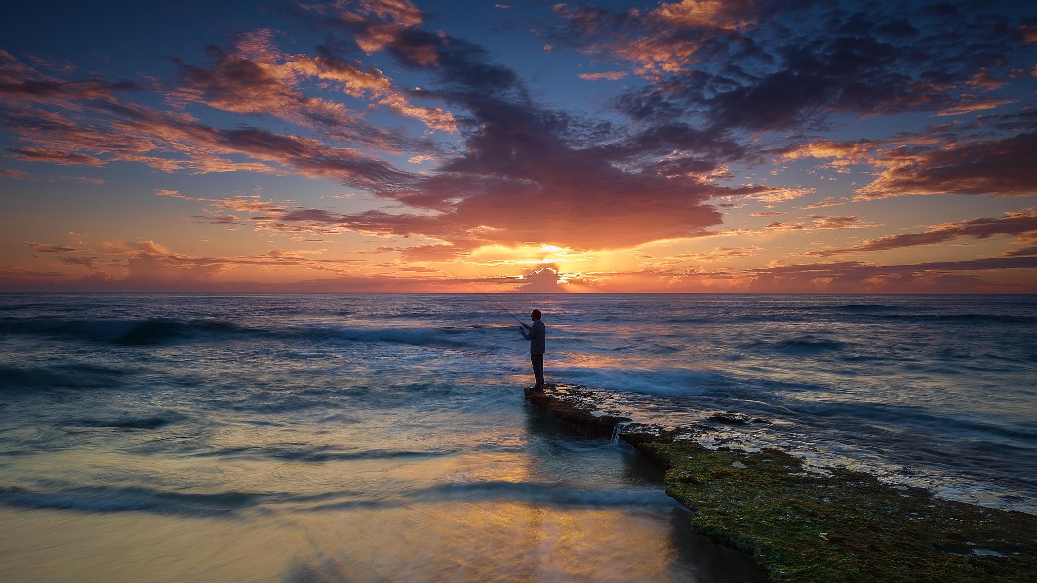 Bicas, пляж, закат