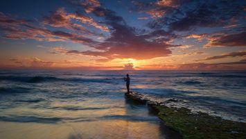 Фото бесплатно Bicas, пляж, закат