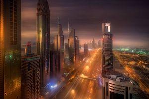 Фото бесплатно город будущего, небоскребы, дороги