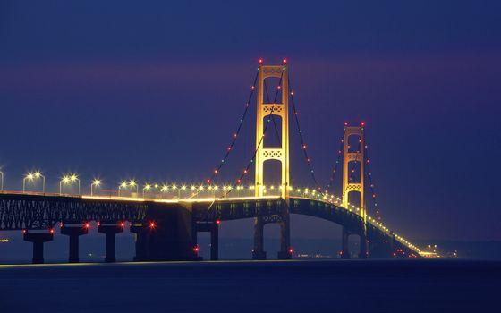 Фото бесплатно Мост Макино, Мичиган