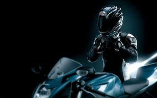 Фото бесплатно байк, мотоциклист, шлем