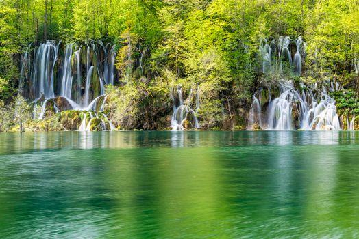 Фото бесплатно Plitvice Lakes National Park, Croatia, река, водопады, пейзаж