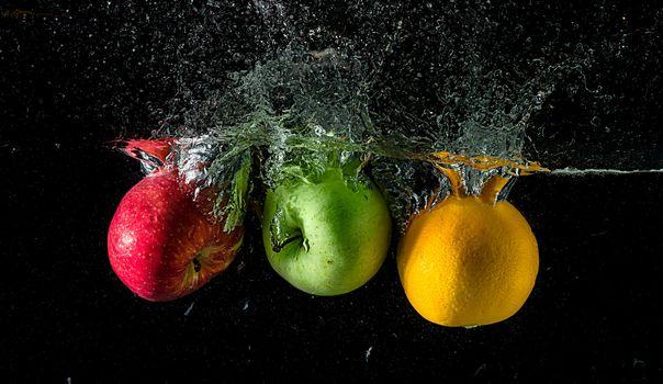 Заставки яблоки, апельсин, фрукты