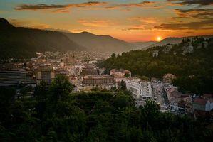 Бесплатные фото Brasov,Romania,Брашов,Румыния,закат