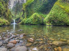 Бесплатные фото Punchbowl Falls,Columbia River Gorge,водопад,река,природа