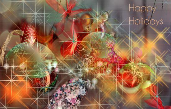 Фото бесплатно новый год, новогодние обои, игрушки