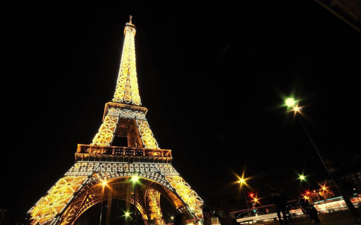 Фото бесплатно ночь, Париж, Эйфелева башня - на рабочий стол