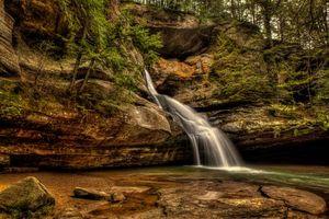 Бесплатные фото Cedar Falls,Hocking Hills State Park,Ohio,водопад,скалы,природа