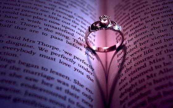 книга, страницы, буквы, кольцо, украшение