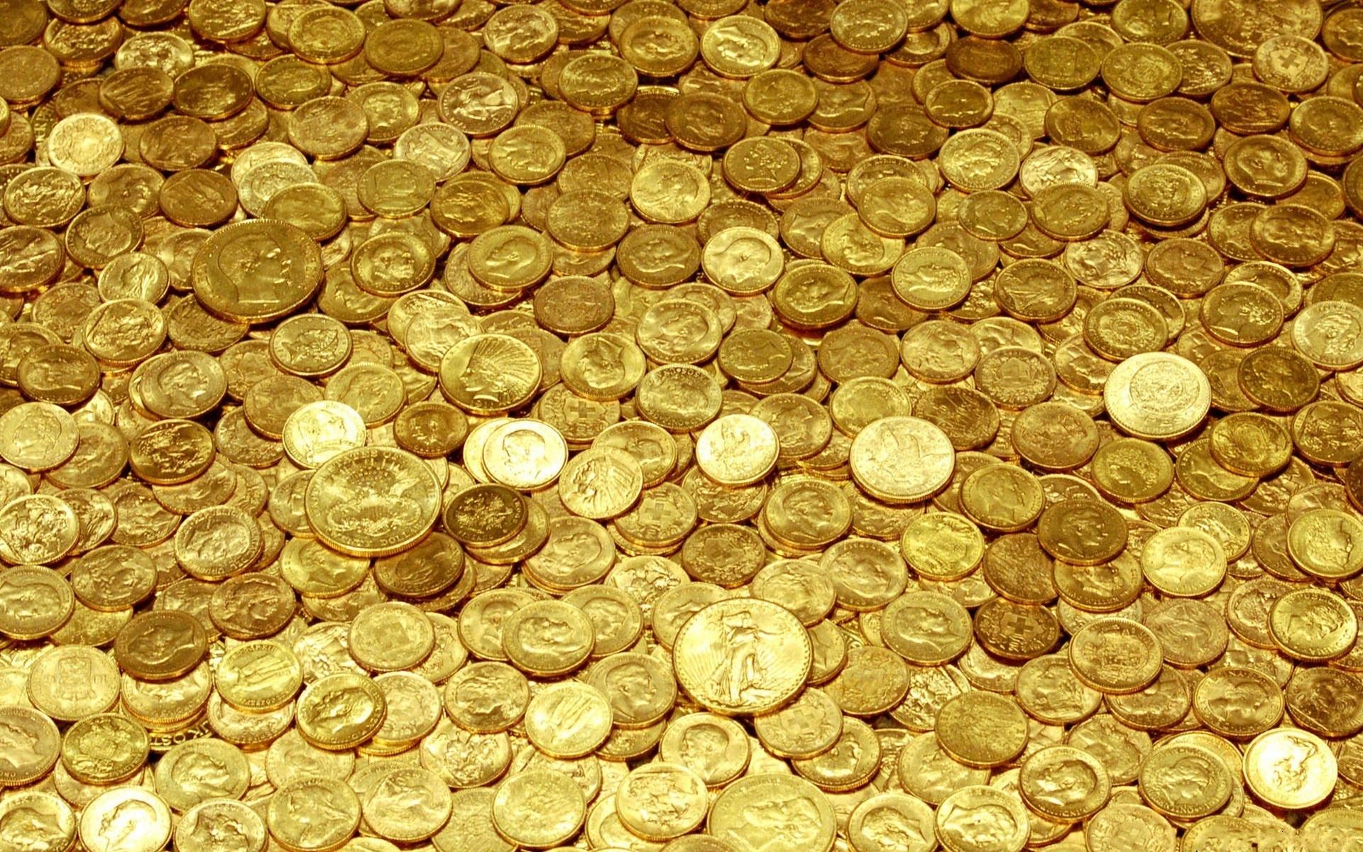 Обои монеты, мелочь, металл, желтый