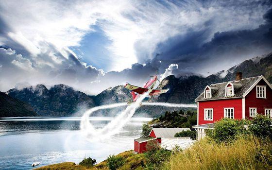 Photo free airplane sports, flight, speed