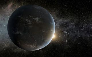 Фото бесплатно планета, облака, звезды