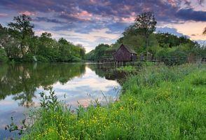 Фото бесплатно пейзаж, мост, дома