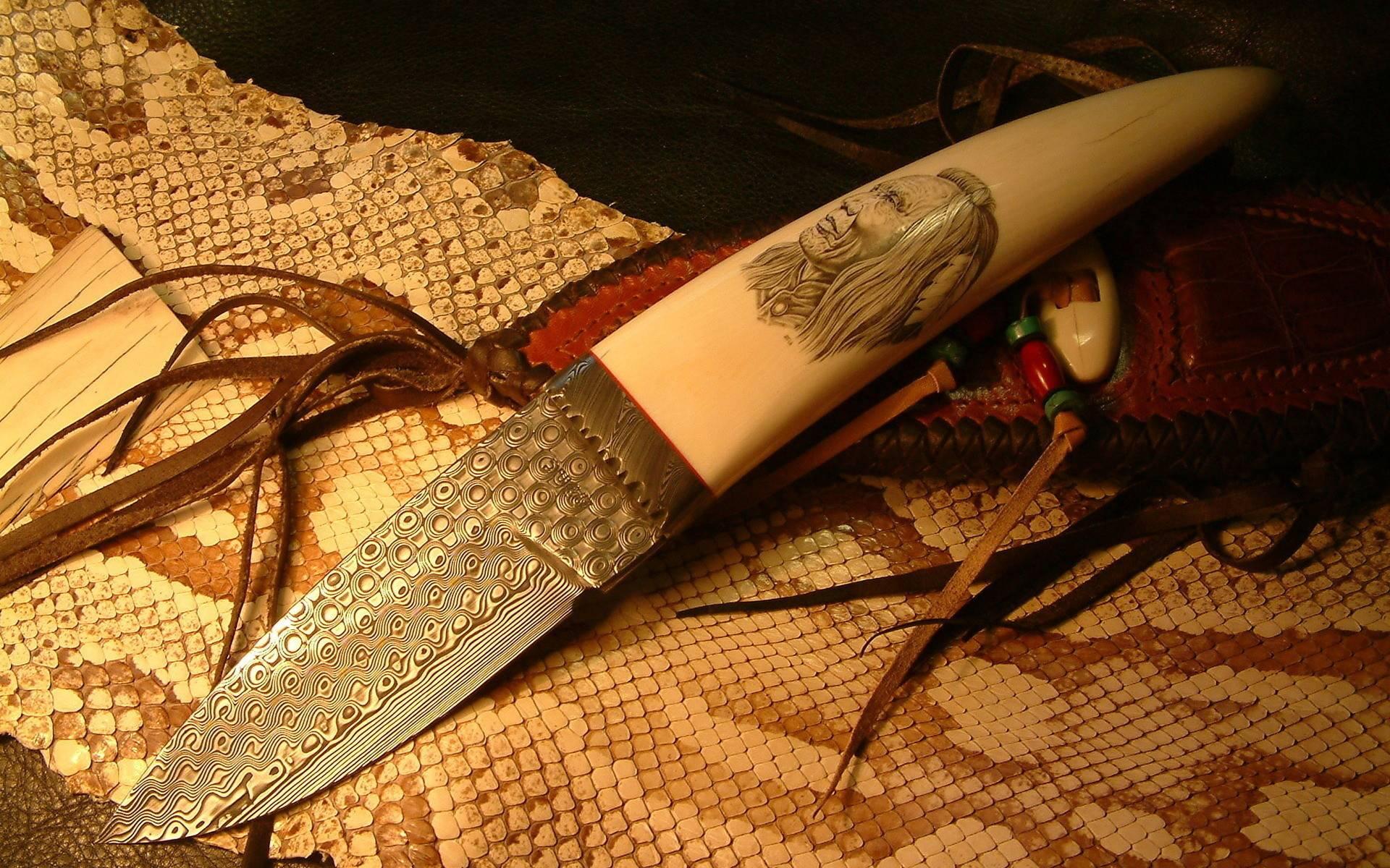 обои нож, лезвие, узор, рукоять картинки фото