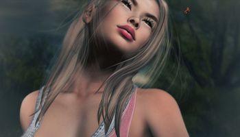 Бесплатные фото девушка,романтика,божья коровка,фэнтези,креатив,стиль,причёска