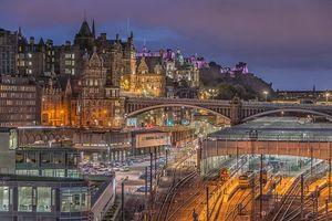 Фото бесплатно Edinburgh Waverly Station, Эдинбург, Уэверли станция