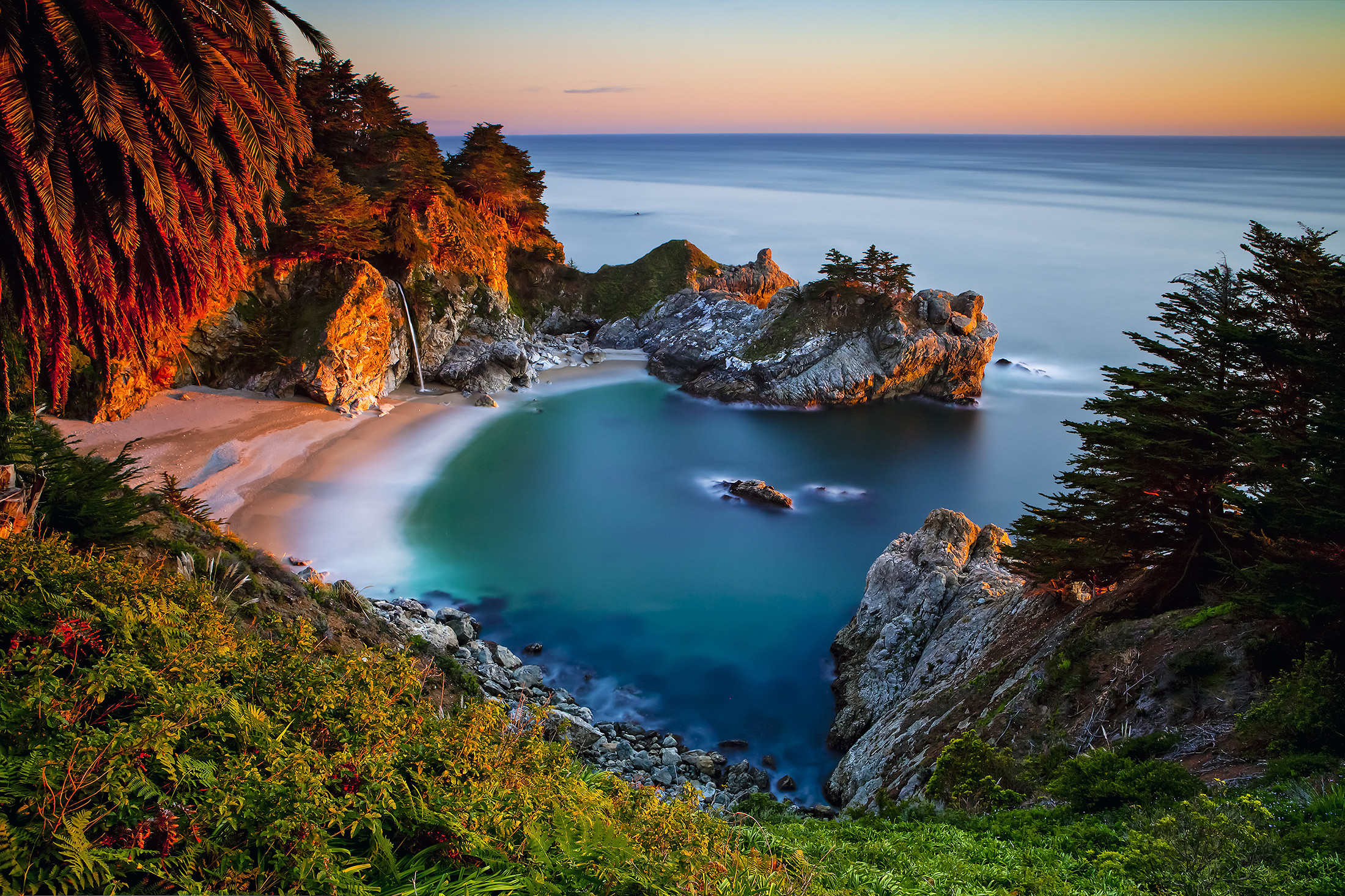 обои Julia Pfeiffer Burns State Park, Big Sur, Monterey County, California картинки фото