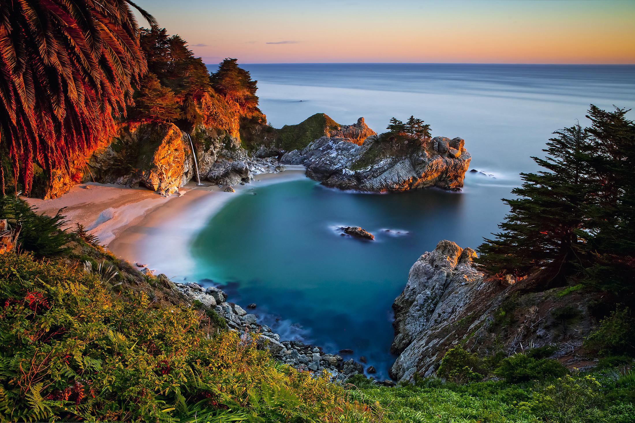 обои Julia Pfeiffer Burns State Park, Big Sur, Monterey County, California картинки фото