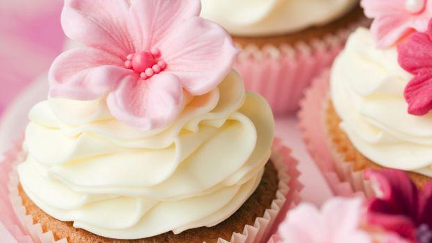 Фото бесплатно пирожное, кексы, корзинки