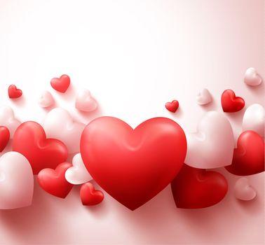 Photo free hearts, inflatable hearts, happy valentine`s day