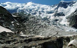 Фото бесплатно горы, скалы, камни, снег, небо