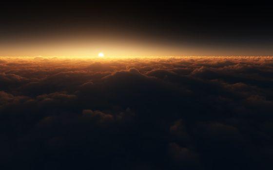 Фото бесплатно облака, горизонт, солнце