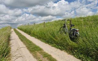 Бесплатные фото загородная,дорога,забор,трава,велосипед