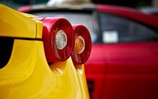 Бесплатные фото феррари,спорткар,желтый,фонари,автомобиль